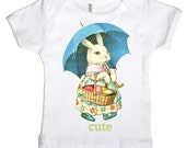 Cute Bunny Infant T shirt, Easter Rabbit Baby Shirt, Infant Tee,  3 months, 6 months, 12 months, 18 months