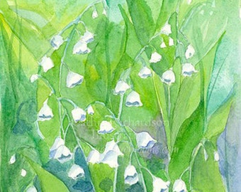 Lily of the Valley Original Watercolor Painting