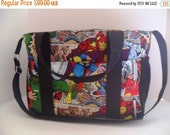 SALE Extra Large Diaper bag Made of Marvel / Avengers Super Hero Fabric - Marvel Diaper Bag - Diaper Bag - Avengers - Monogramming Available
