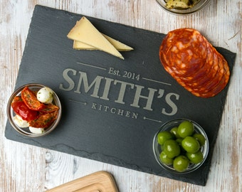 Slate Cheese Board Personalized