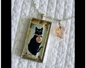 I Love My Cat, But Today I'll Sell Him For Five Cents...gift boxed with chain and READY to SHIP ,cats, kittens, vintage  whimsy