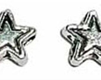 4mm Antiqued Pewter Lead-Safe Star Spacer Beads 50