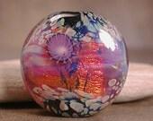 Lampwork Focal Bead Fire Opal Divine Spark Designs SRA