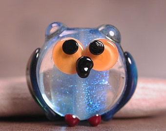 Lampwork Owl Bead Focal Divine Spark Designs SRA