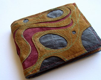 Big Billfold Wallet in Recycled Suede