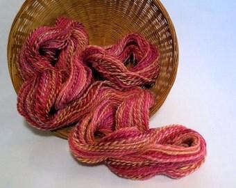 SALE! Sweet Peas, handspun wool yarn, 52 g/176 yds