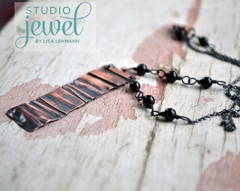 Vampire Diaries Jewelry - Copper Necklace. Copper Pendant. Edgy. Sexy. Layering Necklace. (As Seen On The Vampire Diaries)