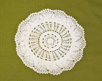 Vintage Large Crocheted Lace Doily 8 inch