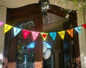 Personalized Custom Bunting Flag Decoration.  For Birthdays, Bedrooms, Weddings, Parties...