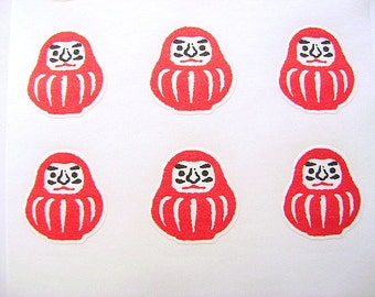Japanese Stickers Dharma Doll Washi Paper (S92)