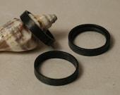 Blackened oxidized brass band ring, one piece (item ID FA00096B)