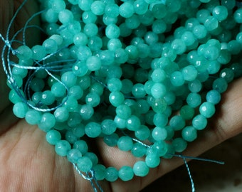 Candy jade faceted round 4mm lake blue, 36 pcs (item ID CJFR4mLB)