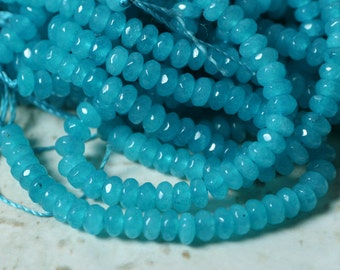 Candy jade faceted rondelle 4mm lake blue 15-inch strand (item ID CJRN4mLB2)
