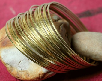 Stacking Bracelet Bangle, Solid Brass Bangle, Blangle Blank, 2 pcs (item ID FA00105RB)