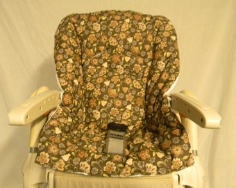 Chicco Polly High Chair Cover In Brown And Cream Colors