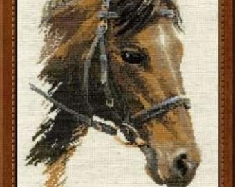 Bulat Horse by Riolis Complete Cross Stitch Kit