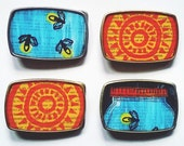 Belt Buckle: Fireflies or Block Printed Sun