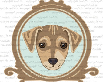 Jack Russell Terrier Clipart Graphic single  graphic  - INSTANT DOWNLOAD - Commercial  Use - dog clipart -puppy clipart -pet clipart