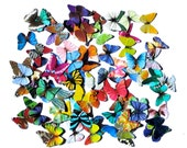 100 Mini Paper Butterflies, embellishment for scrapbooking, DIY weddings, baby shower, DIY ACEO, butterfly school kit, butterfly wall decor