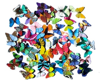 100 Mini Paper Butterflies, embellishment for scrapbooking, DIY weddings, baby shower, DIY ACEO, butterfly school kit, butterfly wall decor