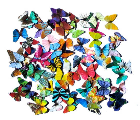 100 mini paper butterflies embellishment for by paperpyro