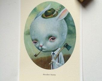 OCTOBER BUNNY-mini print