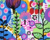 Flower Art Garden  original 9 x 12 colorful floral