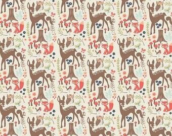 Woodland Spring - Fabric By Dani - For Riley Blake - Cream - 9.95 A Yard