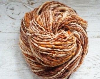 Copper Craze - Superwash Merino Handspun Yarn