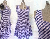 on reserve for Mandy Miles -- BLUE DIAGONAL tank dress with pockets -- limited edition summer print.