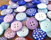 Buttons Lavender Blues mix x60 buttons as seen 1cm