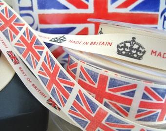 Britannia Ribbons x3 designs as shown 1metre/yard of each design