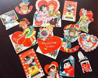 Sale!!!  13 Vintage Valentines