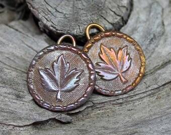 Bronze Leaf Earring Pair