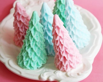 Christmas Tree Soap - Christmas Soap, Pastel Soap, Vintage, Holiday, Tree Soap, Teen Gift, Stocking Stuffer, Pine Tree, Gift For Her, Mom