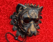 RESERVED for Shy Custis... custom Regal Lion leather mask