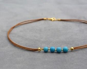 Turquoise Choker necklace - Choker - Minimalist jewelry - Tourquoise chocker - Chocker - Chocker necklace - Short necklace - Boho