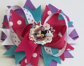 Boutique Minnie mouse inspired Hair Bow Clip