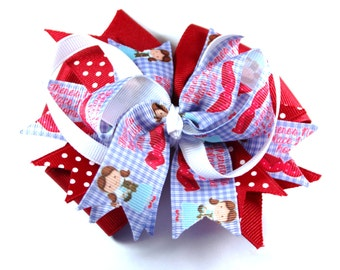 Wizard Of Oz Dorothy  Boutique Hair Bow Clip
