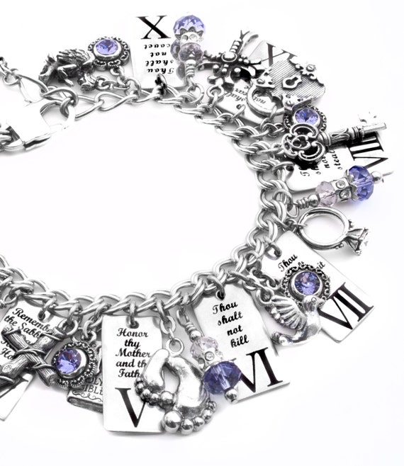 ten commandments bracelet religious bracelet christian