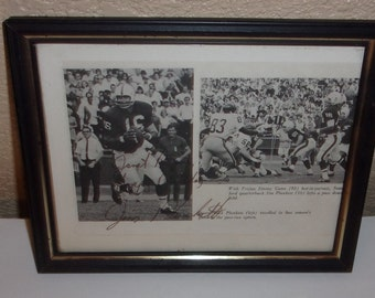 Vintage Jim Plunkett Signed Autographed Newspaper Clipping #16 Stanford Oakland Raiders