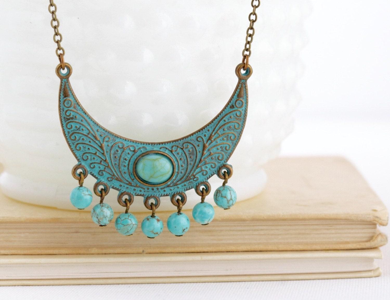 boho jewelry ethnic necklace tribal necklace bohemian