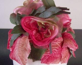 SALE Vintage Woman's Flower Hat