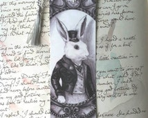Bookmark Alice In Wonderland White Rabbit