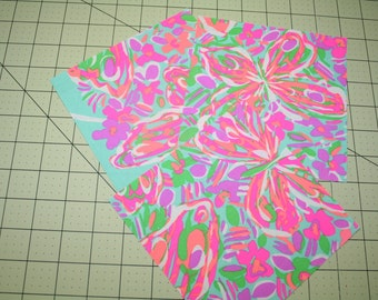 """Lilly Pulitzer~rare and hard to find~ TAKING FLIGHT~  3~6"""" by 6"""" squares~cotton/poplin"""