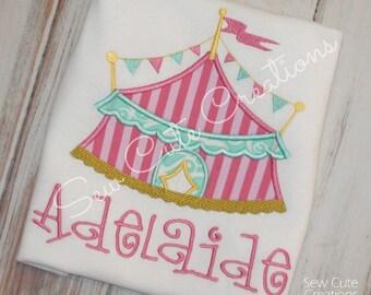Girl Circus Birthday shirt, Circus Tent Shirt, Circus shirt, Carnival Birthday shirt, Boy shirt, Girl birthday shirt, sew cute creations