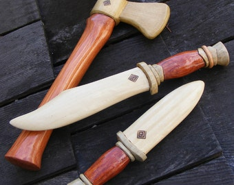 Viking Prize Toy Axe and Daggers Set