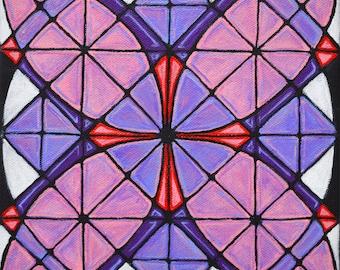 SALE Original Mandala Art: Shadow Bloom  Inspirational Meditative Reflective