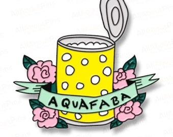 Aquafaba Enamel Pin by Pretty Candy Pin Company