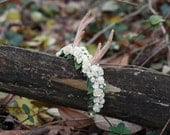 OOAK Cervine Wreath for Blythe - Mori Girl Deer Antlers Headband